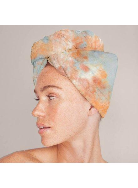 KITSCH Microfiber Hair Towel | Sunset Tie Dye