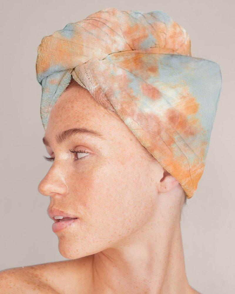 KITSCH Kitsch Microfiber Hair Towel   Sunset Tie Dye
