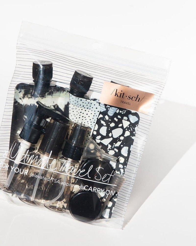 KITSCH Kitsch Refillable Ultimate Travel  (11pc) Set | Black & Ivory