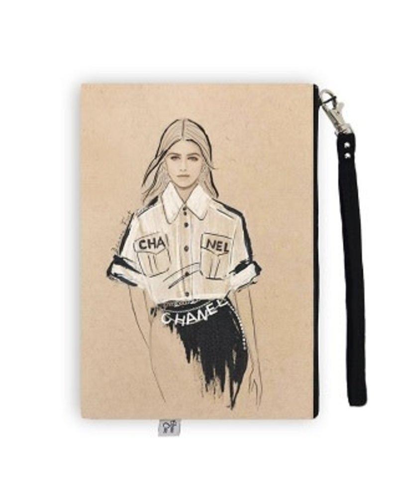 Anne Cate Anne Cate 'Chanel' Wristlet Clutch
