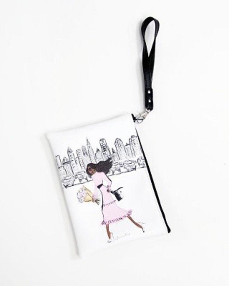 Anne Cate Anne Cate 'City Chic' Wristlet Clutch