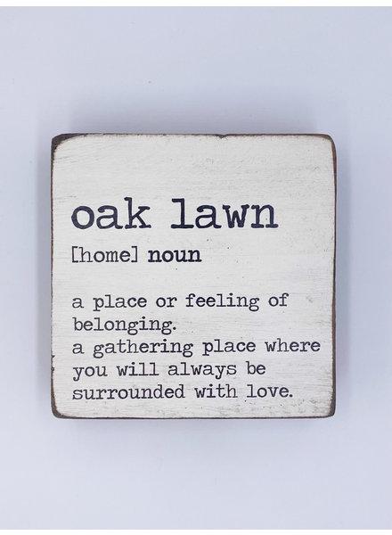 Rustic Marlin Personalized Definition Rustic Square Block | Oak Lawn