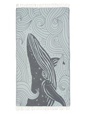 Sand Cloud 'Blue Swirl Waves Whale' Towel