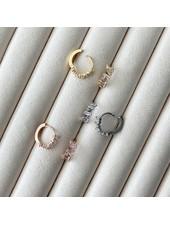 Must Have Baguette Shimmer Hoop Huggie Earrings (More Colors)