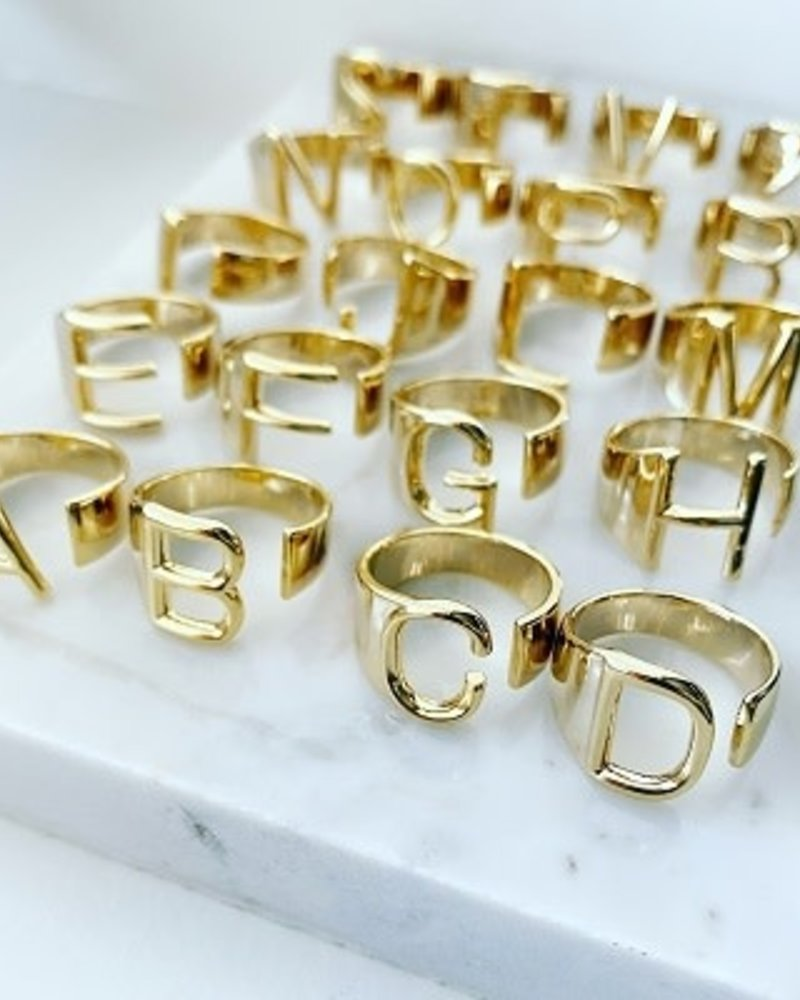 Must Have Must Have Gold Initial Open Ring