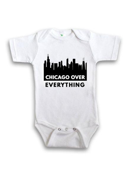 Anne Cate Black Skyline 'Chicago Over Everything' Onesie