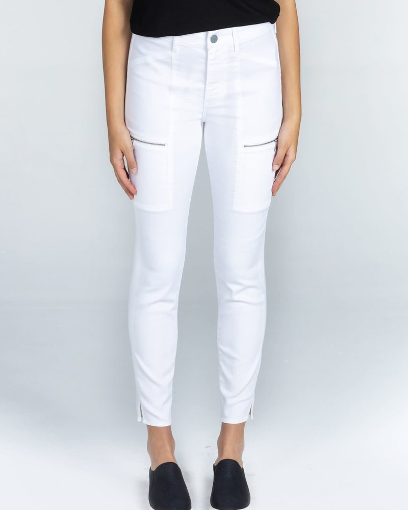Articles of Society Articles of Society 'Carlyon' Skinny Cargo Jean in White Stone