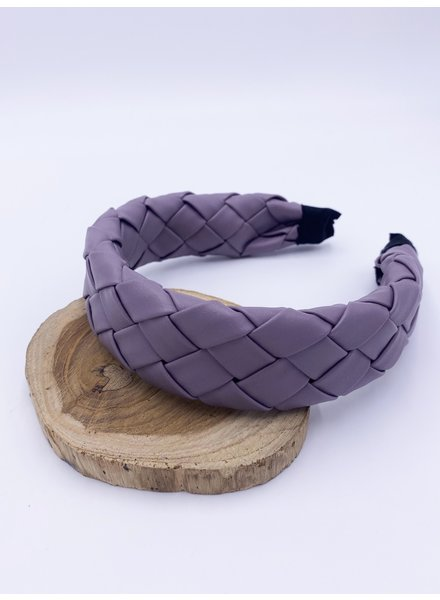 Belle Up 'Weave It Alone' Faux Leather Headband (More Colors)