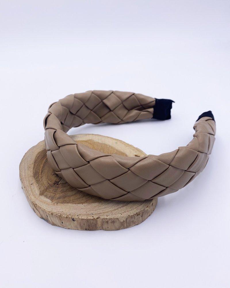 Belle Up 'Weave It Alone' Faux Leather Headband
