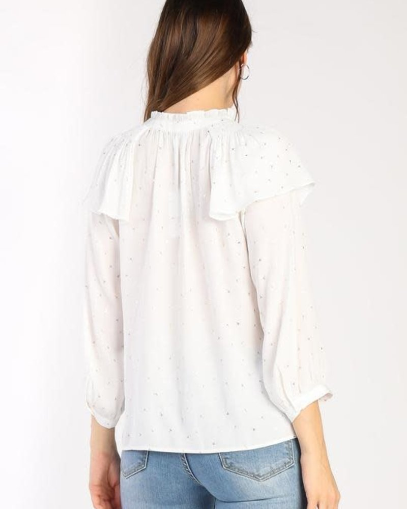 Current Air Current Air 'Ruffling A Few Feathers' Top **FINAL SALE**