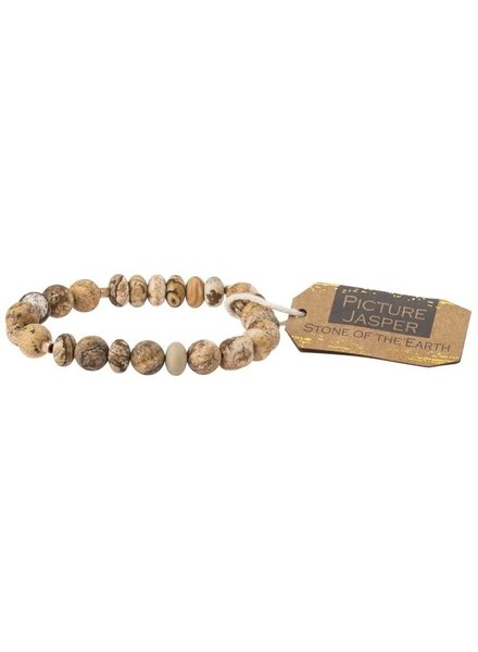 Scout Curated Wears Picture Jasper Stone Stacking Bracelets