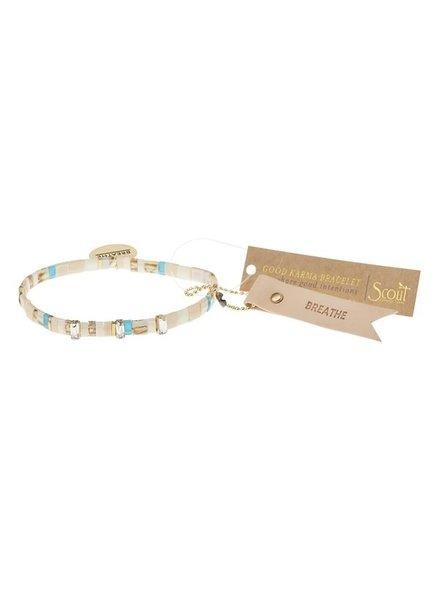 Scout Curated Wears Good Karma Miyuki Bracelet - Breathe in Ivory/Sparkle/Gold