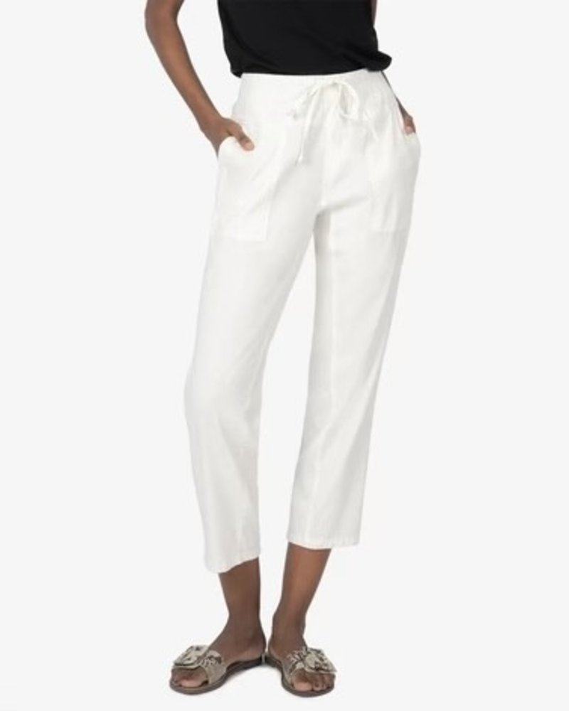 Kut from the Kloth Kut From The Kloth White Smocked Drawcord Pant