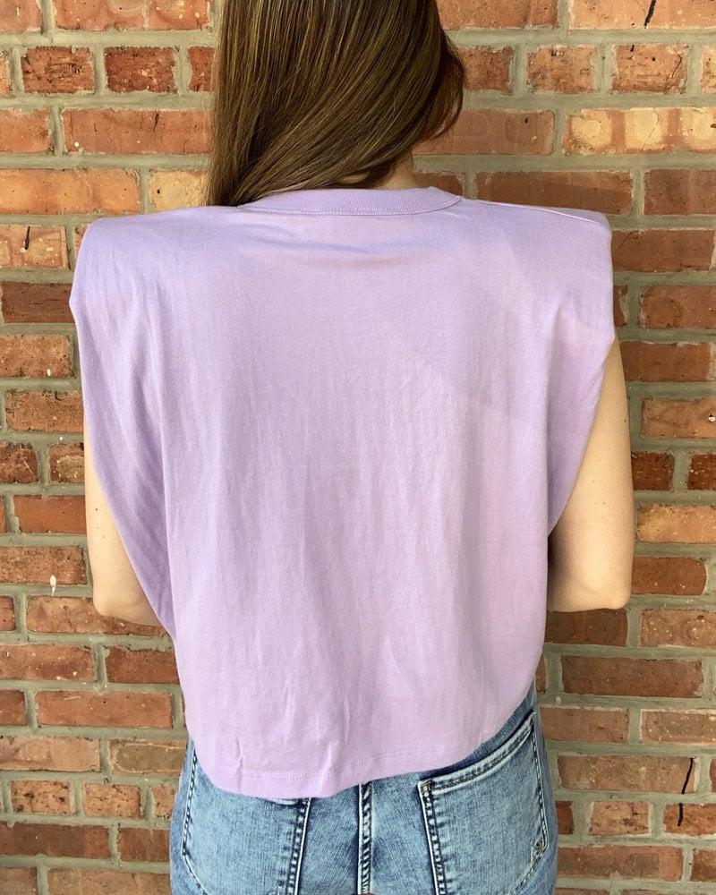 RD Style RD Style Lavendula 'Shoulder Lean' Crop Top
