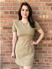 RD Style Tan Acid Wash 'Skate On By' Knit Dress