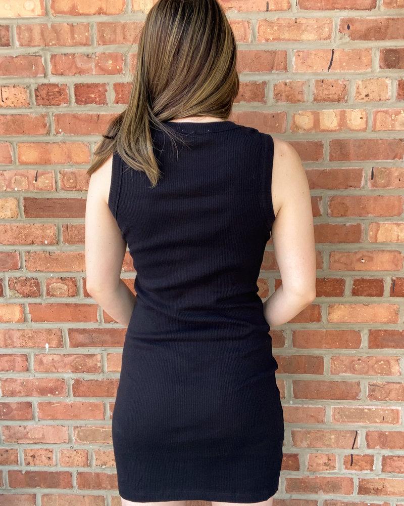 RD Style RD Style Black 'Halt!' Tank Dress