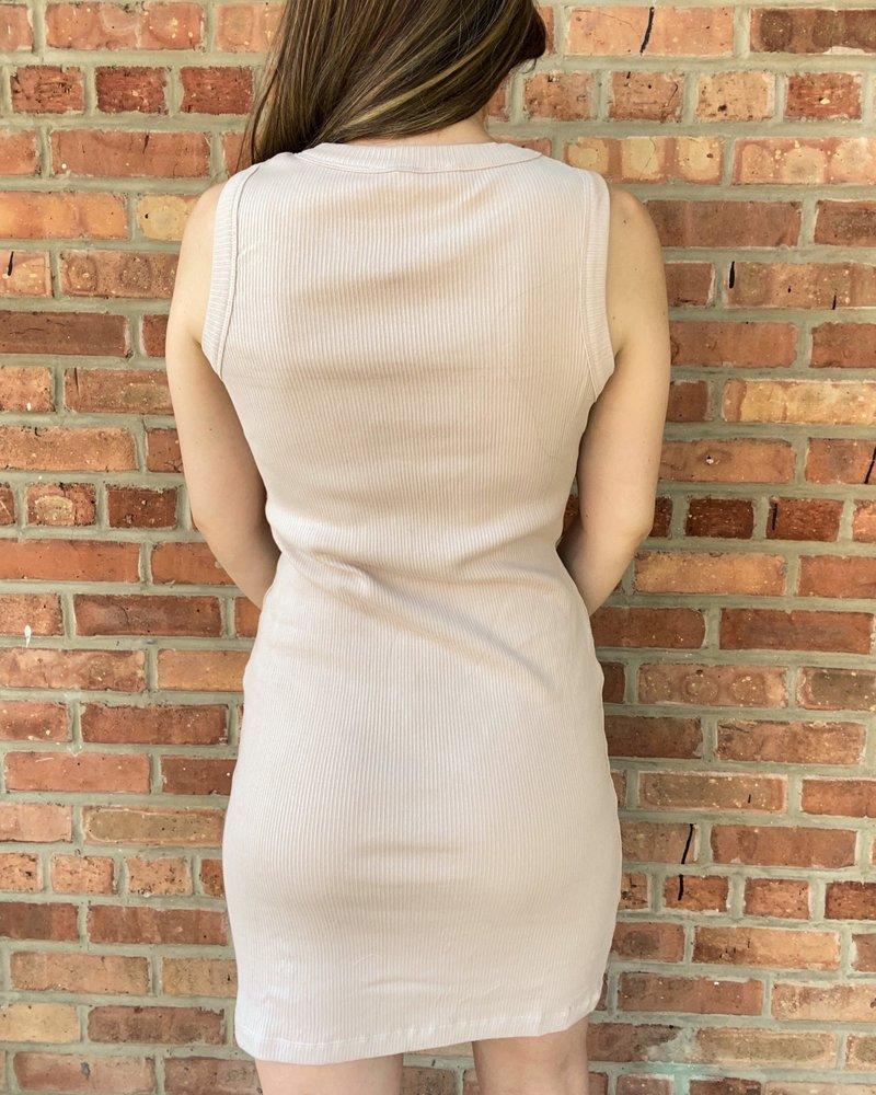 RD Style RD Style Rose Taupe 'Halt!' Tank Dress