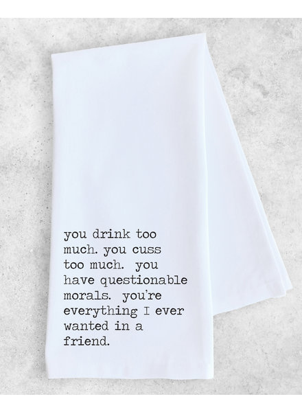 DEV D + Co Tea Towel | Everything I Wanted In A Friend