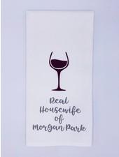 Rustic Marlin Personalized Real Housewife Tea Towel   Morgan Park