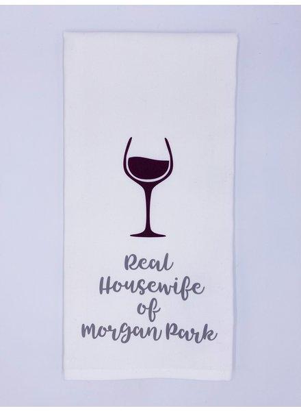 Rustic Marlin Personalized Real Housewife Tea Towel | Morgan Park