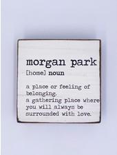 Rustic Marlin Personalized Definition Rustic Square Block   Morgan Park