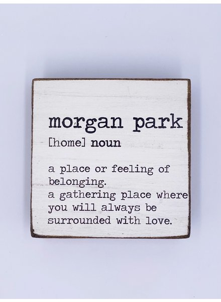 Rustic Marlin Personalized Definition Rustic Square Block | Morgan Park