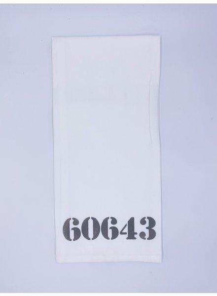 Rustic Marlin Personalized Zip Code Tea Towel | 60643 (More Colors)
