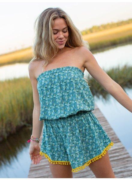 Natural Life Aqua Pansy 'Ava' Cover-Up Dress