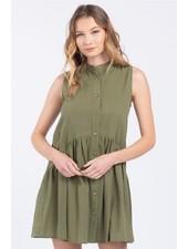 Everly 'Little Olive' Babydoll Dress