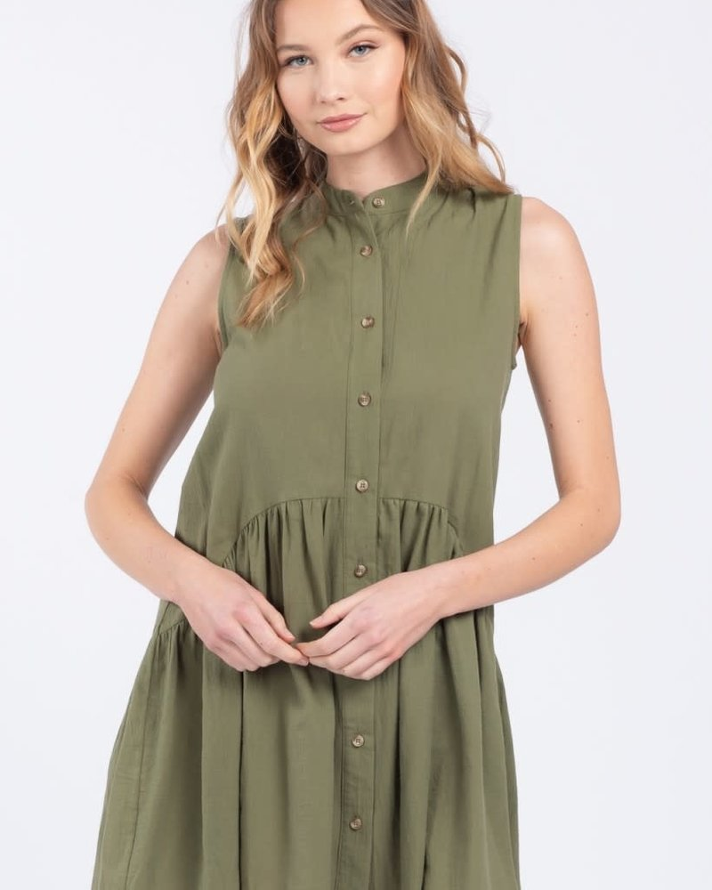 Everly Everly 'Little Olive' Babydoll Dress