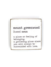 Rustic Marlin Personalized Definition Rustic Square Block | Mount Greenwood