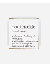 Rustic Marlin Personalized Definition Rustic Square Block   South Side