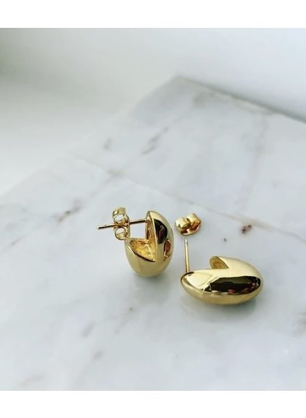 Must Have Brass Earrings | Bean Stud (More Colors)