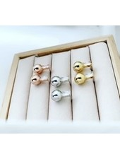 Must Have Brass Earrings | Baguette Ball Drop (More Colors)