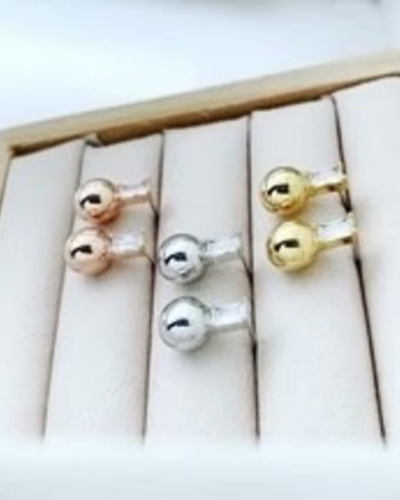 Must Have Must Have Brass Earrings | Baguette Ball Drop