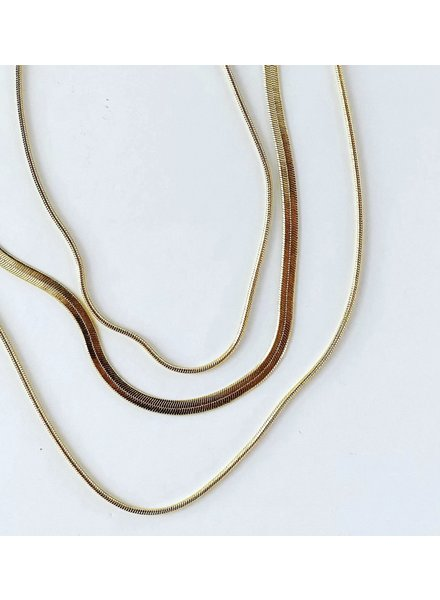 Must Have Herringbone & Snake Layered Necklace (More Colors)
