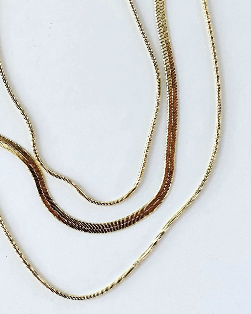 Must Have Must Have Herringbone & Snake Layered Necklace
