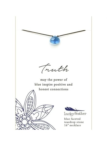 Lucky Feather Color Power Necklace | Blue