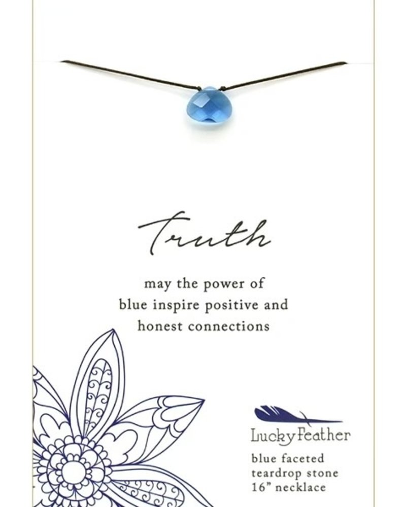Lucky Feather Lucky Feather Color Power Necklace   Blue