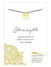 Lucky Feather Color Power Necklace | Yellow