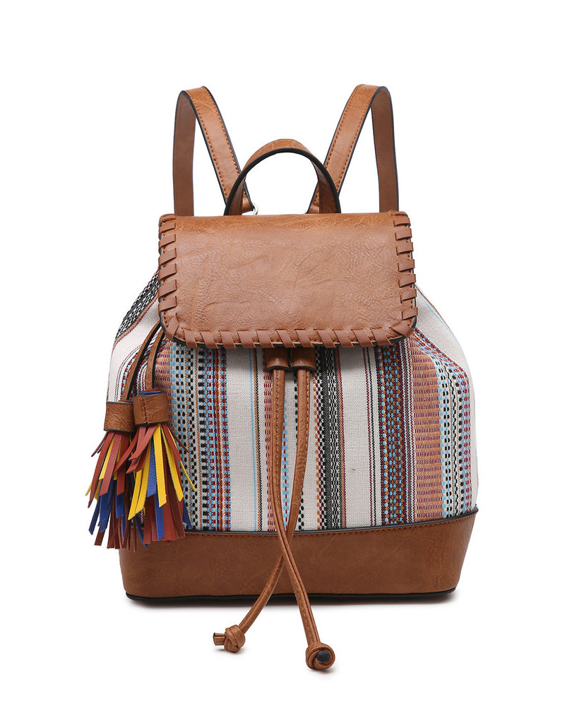 Jen & Co. Jen & Co. 'Kourtney' Boho Backpack