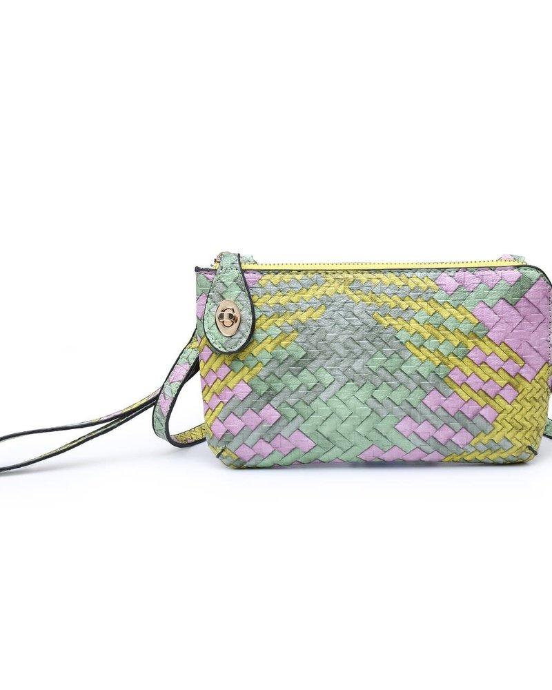 Jen & Co. Jen & Co. 'Snapper' Woven Convertible Crossbody Bag