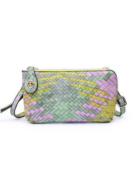 Jen & Co. 'Snapper' Woven Convertible Crossbody Bag (More Colors)