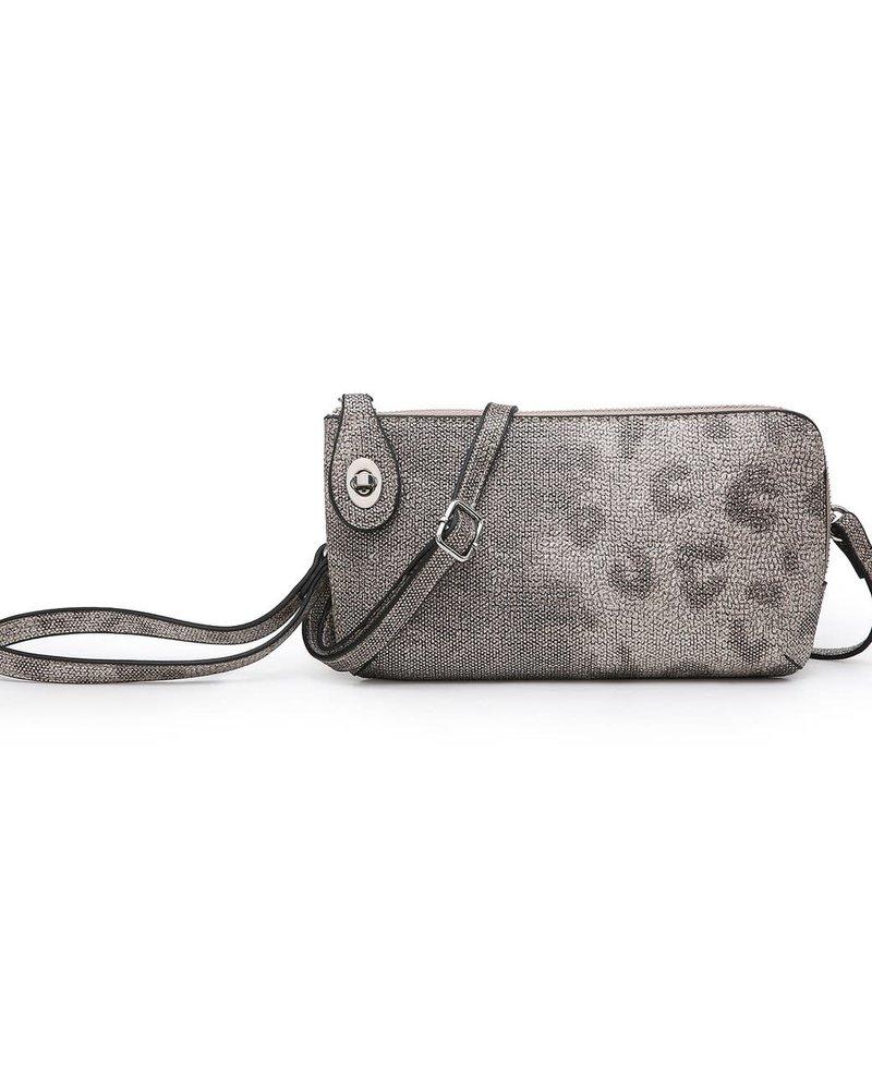 Jen & Co. Jen & Co. 'Kendall' Snapper Leopard Convertible Crossbody Bag