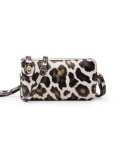 Jen & Co. 'Kendall' Snapper Leopard Convertible Crossbody Bag (More Colors)