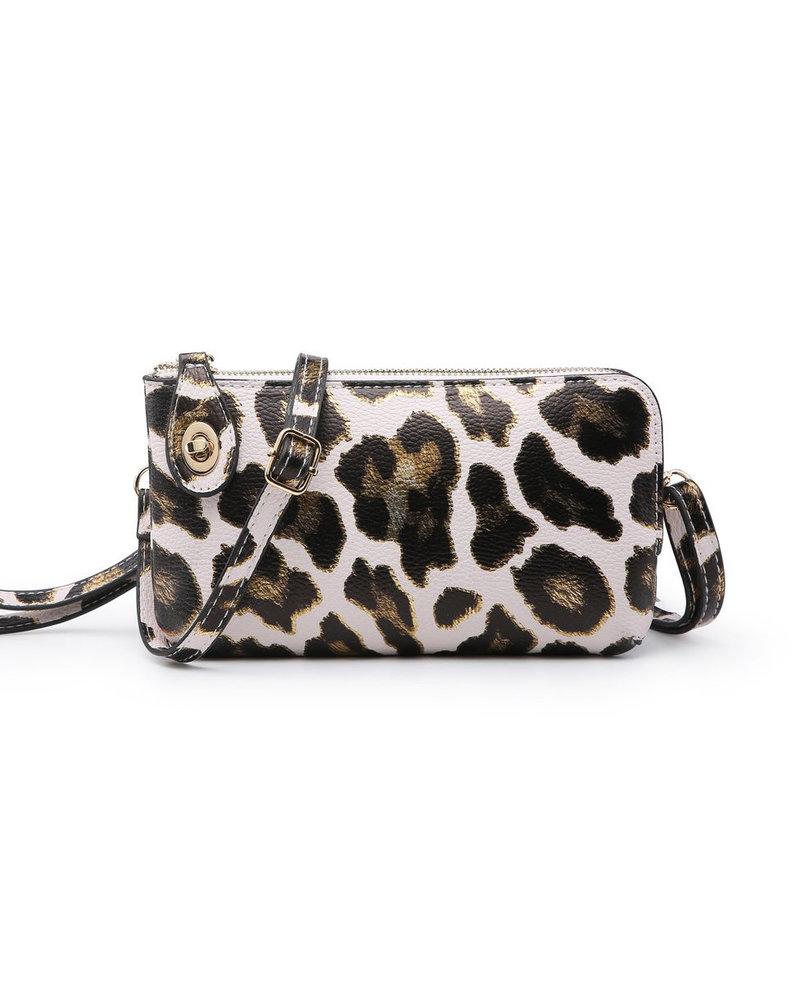 Jen & Co. Jen & Co. 'Snapper' Leopard Convertible Crossbody Bag