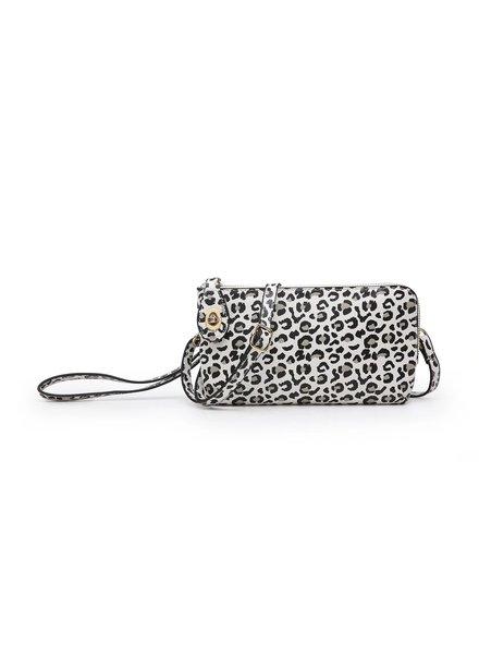 Jen & Co. 'Snapper' Cheetah Convertible Crossbody Bag