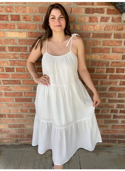 KLD Signature White  'A Ray Of Sunshine' Dress