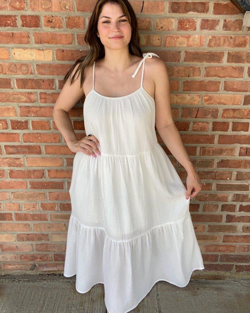 KLD Signature KLD White  'A Ray Of Sunshine' Dress