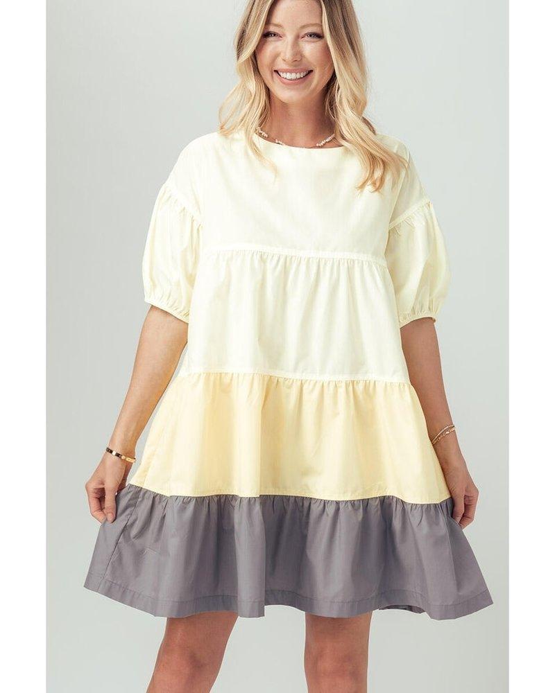 Urban Daizy Urban Daizy 'A Burst Of Sunshine' Babydoll Dress